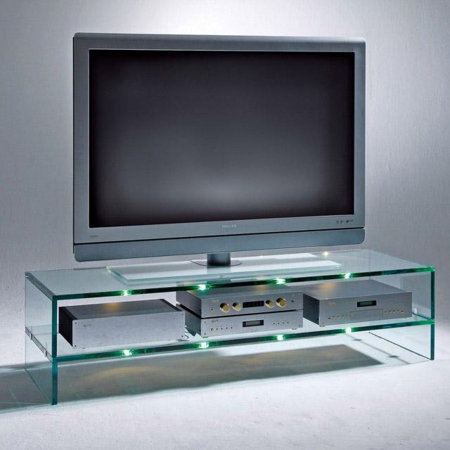 Стеклянная полочка под телевизор фото способ